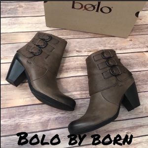 NIB cuffed ankle boots by BOLO for BORN